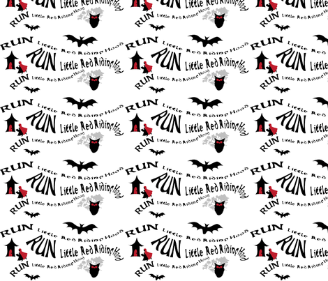 Run Little Red fabric by wendyg on Spoonflower - custom fabric