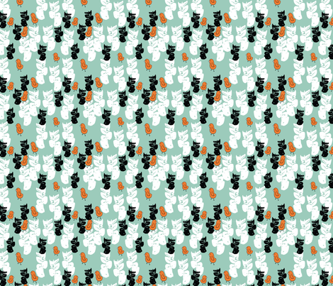 Bird-Hunt fabric by kncpdesigns on Spoonflower - custom fabric