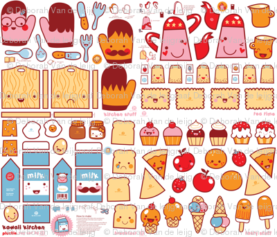 Kawaii Kitchen - plushie toy set
