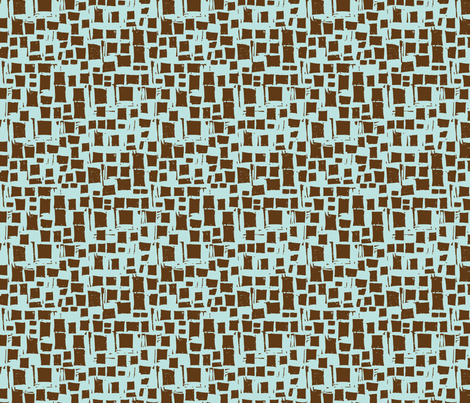 reworked_brown_blue_blocks fabric by gsonge on Spoonflower - custom fabric