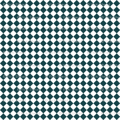 Diamond Pattern in Deep Teal