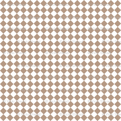 Diamond Pattern in Nougat