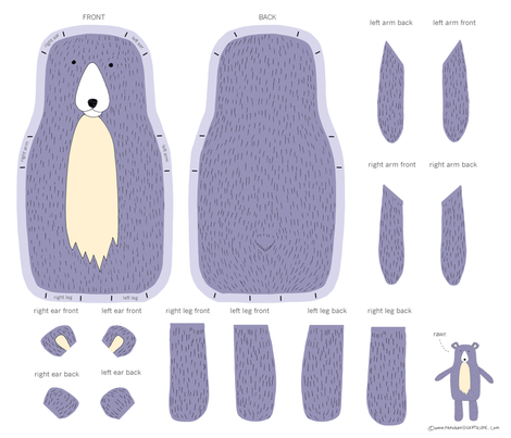 Make Your Own Bear fabric by frankandgertrude on Spoonflower - custom fabric