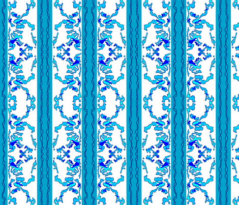Lacey Blue Stripes fabric by robin_rice on Spoonflower - custom fabric