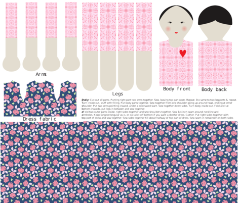 A dolly to love fabric by shiny on Spoonflower - custom fabric