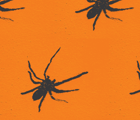 Halloween Spiders at University of Texas fabric by susaninparis on Spoonflower - custom fabric