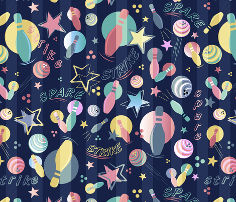 Galactic Strike fabric by demigoutte on Spoonflower - custom fabric