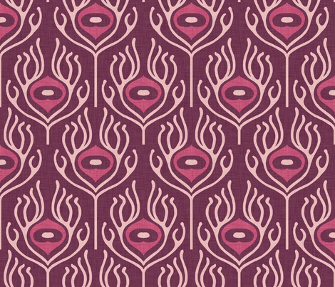 umbra_peacock_grape fabric by holli_zollinger on Spoonflower - custom fabric