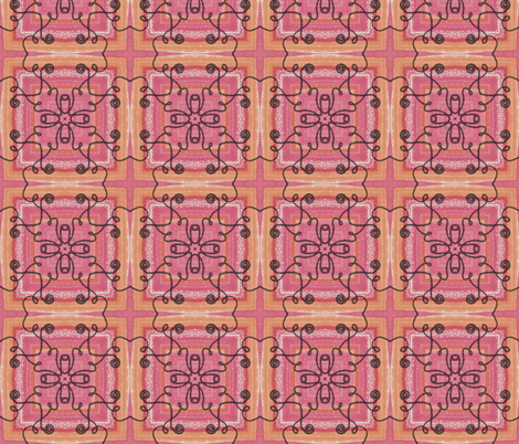 Rosey Peach fabric by captiveinflorida on Spoonflower - custom fabric