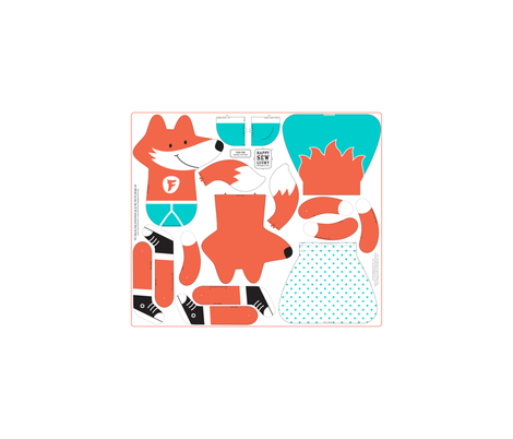 FAB FOX (click to see photo of sewn sample) fabric by happysewlucky on Spoonflower - custom fabric
