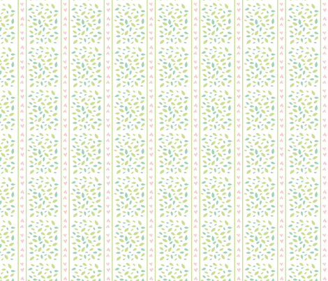 Baby Woods_Hearts and stripes fabric by dzynchik on Spoonflower - custom fabric