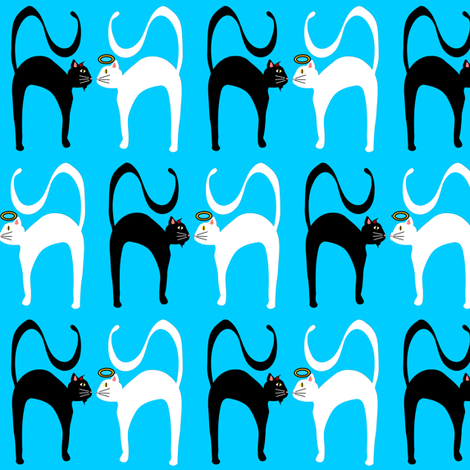 Good Kitty, Bad Bad Kitty fabric by missyq on Spoonflower - custom fabric