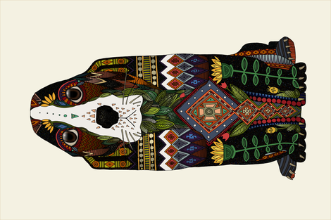 Basset Hound tea towel fabric by scrummy on Spoonflower - custom fabric