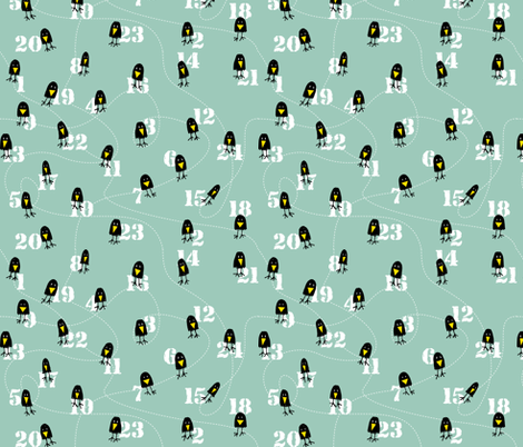 4 & 20 Black Birds fabric by lulakiti on Spoonflower - custom fabric