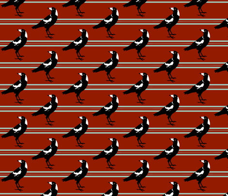 magpie stripe fabric by garmonsway_designs on Spoonflower - custom fabric
