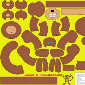 Jasper Q. Piddlebottom - Plush Monkey toy