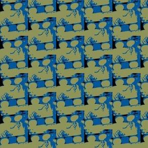 amsterdam cake - blue fondant