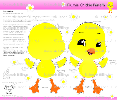 Plushie Pattern Chickie