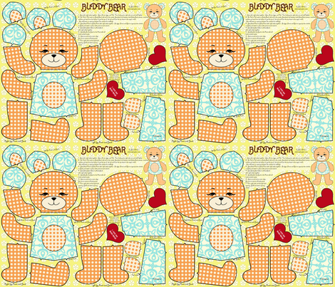 Buddy Bear Stuffed Friend fabric by mytinystar on Spoonflower - custom fabric