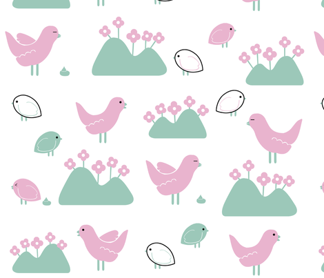 They like taking a walk. fabric by blingmoon on Spoonflower - custom fabric