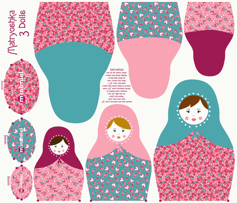 Matryoshka fabric by minimiel on Spoonflower - custom fabric