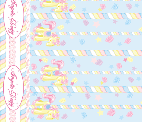 Lovely Horse Derpy-chan: Derpy Carnival Sax Blue fabric by gabi-hime on Spoonflower - custom fabric