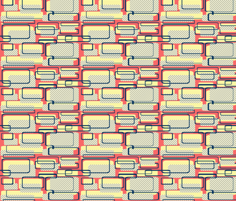 Fifties Kitchen fabric by glanoramay on Spoonflower - custom fabric