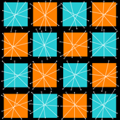 Atomic Separation (Orange/Aqua)