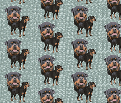 Rottweiler fabric fabric by dogdaze_ on Spoonflower - custom fabric