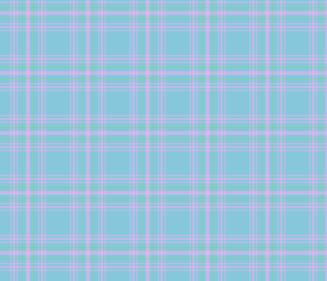 Blue_plaid fabric by anneleukocyte on Spoonflower - custom fabric