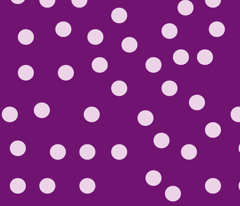 Purple and White Polka Dots fabric by melodiemw on Spoonflower - custom fabric