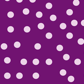 Purple and White Polka Dots