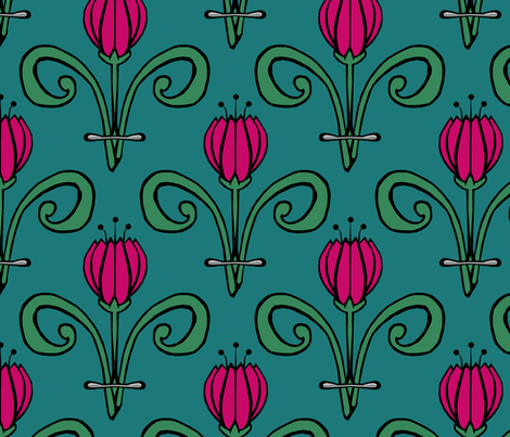 Tulip Tulip fabric by pond_ripple on Spoonflower - custom fabric