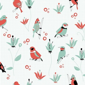 Birds (4 colours)