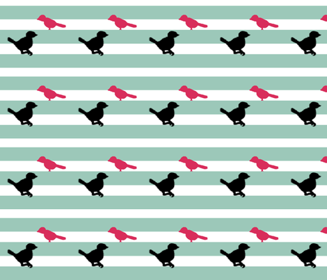 Sassy Bird Stripe fabric by prettyroses on Spoonflower - custom fabric