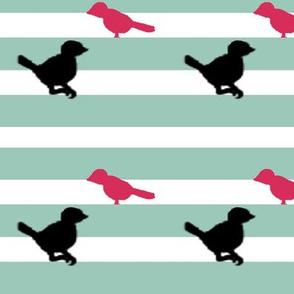 Sassy Bird Stripe