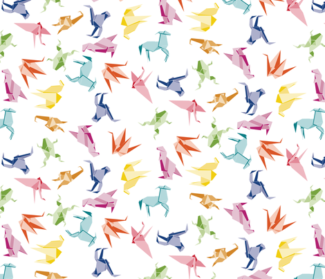 Origami Animals fabric by drizzlydaydesignco on Spoonflower - custom fabric