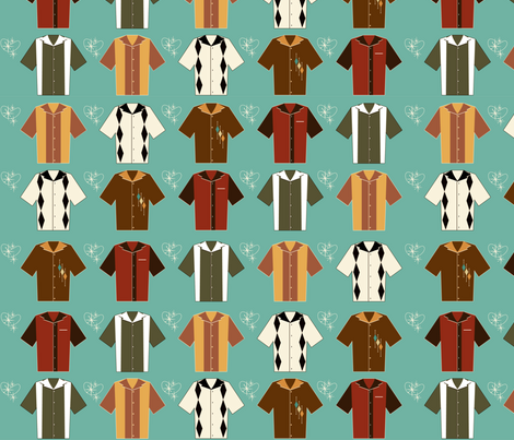 Vintage Bowling Shirts fabric by trubludesign on Spoonflower - custom fabric
