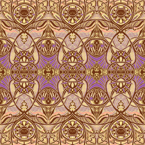 Victorian Gothic (chocolate and sand) fabric by edsel2084 on Spoonflower - custom fabric