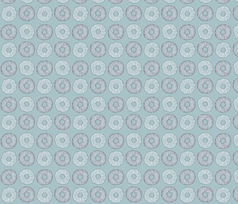 Blue Doughnuts fabric by siya on Spoonflower - custom fabric
