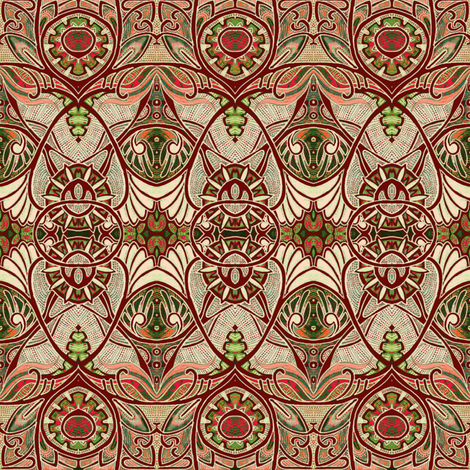 Victorian Gothic (brown/tan negative) fabric by edsel2084 on Spoonflower - custom fabric