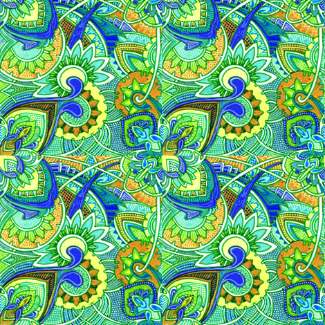 Harlequin Garden fabric by edsel2084 on Spoonflower - custom fabric