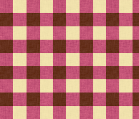 umbra_gingham_pink fabric by holli_zollinger on Spoonflower - custom fabric