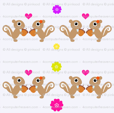 Squirrels First Love - Summer Fun! - © PinkSodaPop 4ComputerHeaven.com