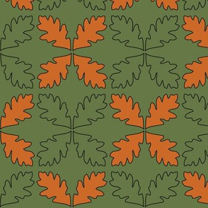 Sage & Pumpkin Oak Leaves