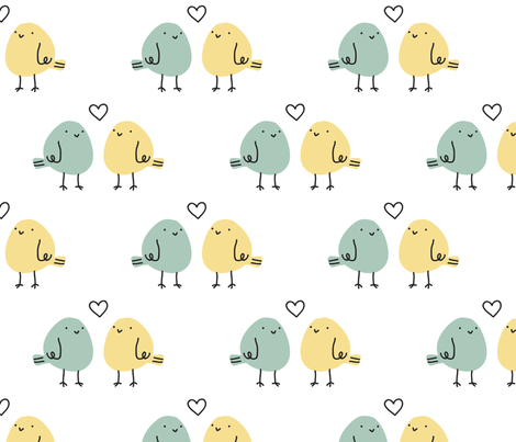 love birds fabric by alison-berry on Spoonflower - custom fabric