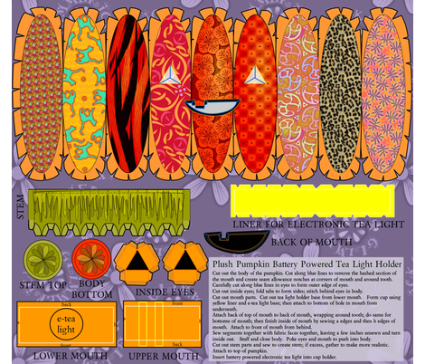©2011 Jack-o-Lantern e-Tealight Holder fabric by glimmericks on Spoonflower - custom fabric