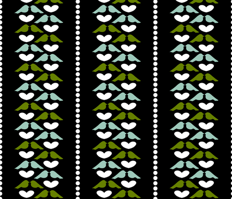 Love Bird Stripe fabric by mayabella on Spoonflower - custom fabric