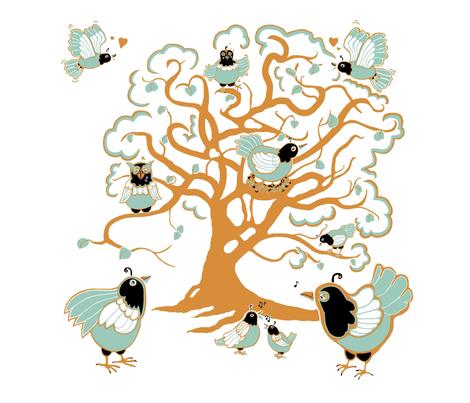 Close harmony fabric by alfabesi on Spoonflower - custom fabric
