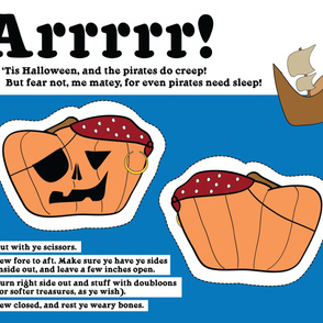 Pirate Pumpkin Pillow Plushie Pattern